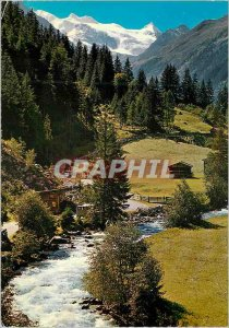 Modern Postcard Im stubaital Blick gegen zzuckerhutl 3507 m