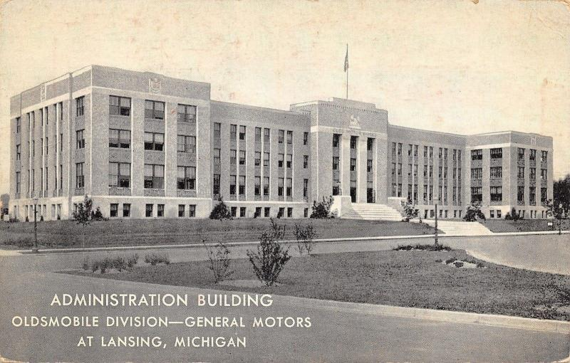 Lansing Michigan~General Motors~Oldsmobile Administration Building~1939 B&W PC