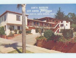 Unused Pre-1980 TRAVELODGE MOTEL Santa Barbara California CA c0161