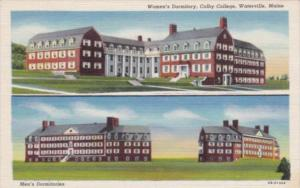 Maine Waterville Men's and Women's Dormitories Colby College Curteich