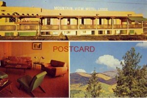 Mr and Mrs S S Westvold welcome you to MOUNTAIN VIEW MOTEL LODGE, TAOS, N. M.
