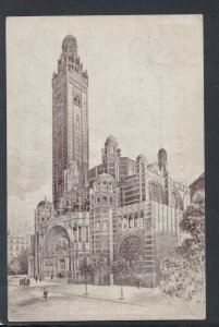 London Postcard - Artist View of Westminster Abbey     RS15387