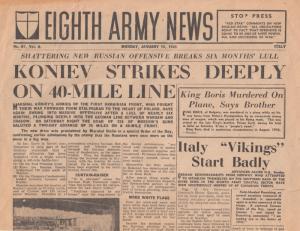 Eighth Army News Koniev Strike WW2 Russian Army War Newspaper