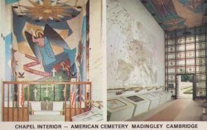American Cemetery at Madingley Cambridge Chapel Interior Postcard