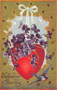 Valentine Greeting Postcard Writing on back
