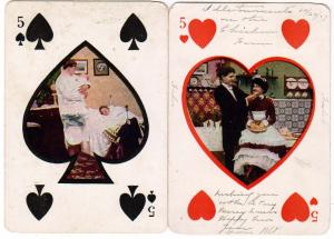 2 - 5 of Hearts and Spades