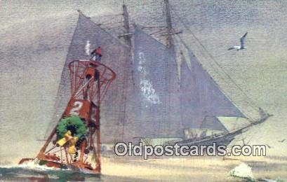 Sail Boat Postcard Post Card