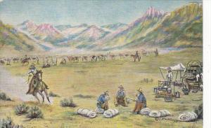The Round Up by Cowboy Artist L H Dude Larsen