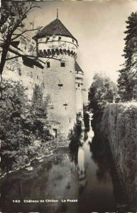 Vintage Real Photo Postcard, Chateau de Chillon, Le Fosse, Switzerland 32R