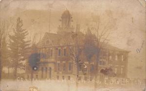 Edgerton Indiana~Central High School~Betsie & Her Sisters Schoolhouse~1907 RPPC