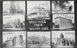 Union Bank, Farmers Savings Bank Wilton, Iowa, USA Postcard Post Card Wilton,...