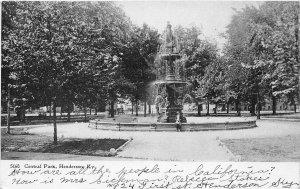 G10/ henderson Kentucky Postcard  1906 Central Park Fountain