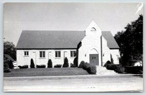 Wautoma Wisconsin~Spanish Fancy Facade Over Door of Methodist Church~1950s RPPC