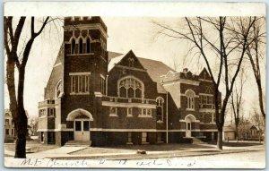 Vintage RPPC Real Photo Postcard Church Building M.E. Church c1910s