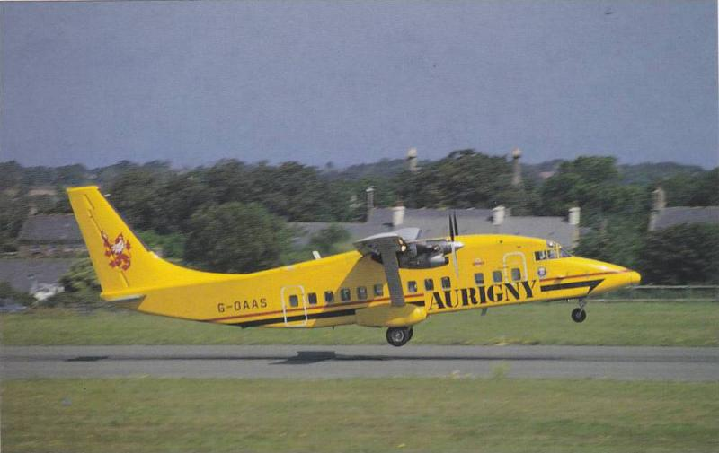 Small Airplane, Shorts SD-360-100, Aurigny Air Services, Jersey Airport, Chan...