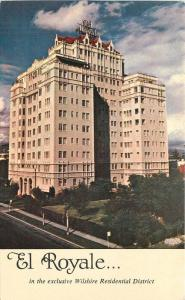 El Royale Hotel 1950s Los Angeles California postcard 7920