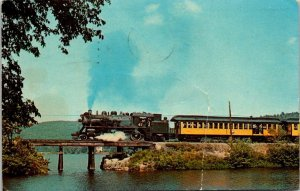 VTG Postcard Steamtown USA Monadnoc Northern Train Locomotive 1967 Minn  1337