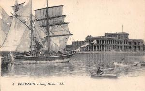 Egypt Port-Said Navy House, Ships, Boats, Bureaux Maritimes