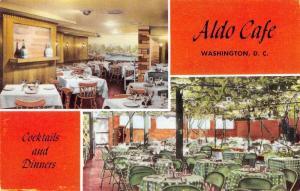 Washington DC Aldo Cafe Interior Real Photo Antique Postcard J46208
