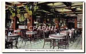 Postcard Old Toy & # 39s Mandarin Restaurant Milwaukee Toy Building China