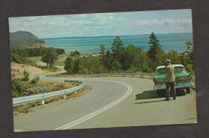 View From Highway Through Fundy National Park, NB - Used 1950s