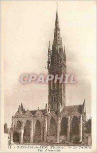 Postcard Old Saint Pol de Leon (Finistere) The Cresker Overview