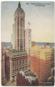 Singer Building, New York, unused Postcard