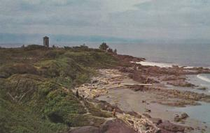 Bird's-eye View of Point No Point, Rocky Promontory, Vancouver Island, Britis...