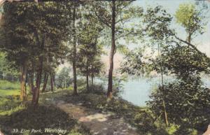 Scenic View, Lake at Elm Park, Winnipeg, Manitoba, Canada 1909