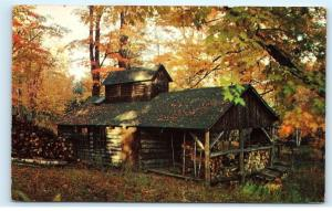 *Old Sugar House New England Maple Sap Evaporated Maple Sugar Postcard A23