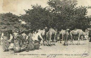 CPA AK Sénégal Afrique Fortier 512. Tivaouane - Place du Marché (67943)