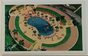 1950s Cabana Sun Club Havana Cuba Postcard Postcard Swimming Pool