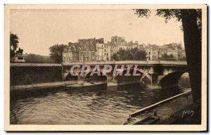 Old Postcard Paris strolling Neul Bridge and the Pointe de la Cite