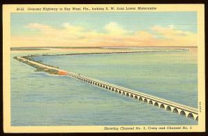 Lower Matecumbe bridge, Florida Keys, linen