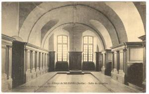 Interior, Salle Du Chapitre, Abbaye De Solesmes (Sarthe), France, 1900-1910s