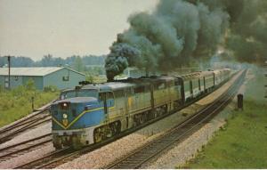 Delaware & Hudson 18 Train ~ D&H Classic Also ~ Saratoga Springs NY Postcard