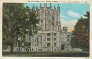POUGHKEEPSIE , New York , PU-1930; Thompson Memorial Library, Vassar College