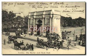 Old Postcard The Marble Arch London Hyde Park