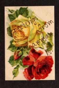 KS Greetings from CHAPMAN KANSAS Embossed Postcard PC