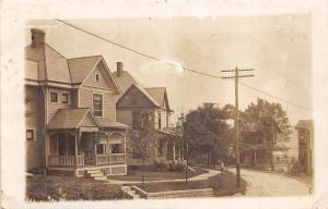 E89/ Scio Ohio RPPC Postcard Harrison County 1915 Main Street Homes