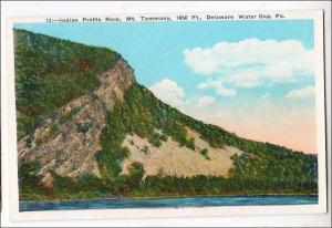 Indian Profile Rock, Mt Tammany, Delaware Water Gap PA