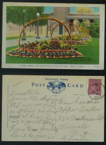 Flower Gardens Canadian National Exhibition pmk King CDS
