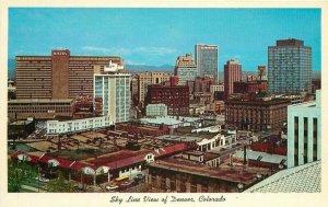 Birdseye Denver Colorado Skyline View #C-403 Postcard Cooper News 21-1519