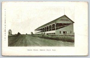 Salem Oregon~Grandstands (Built 1893), Race Track, Judges Stand? c1905 B&W UDB
