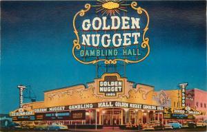 Million Dollar Golden Nugget Casino Gambling Hall Saloon Restaurant Las Vegas