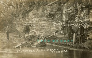 Circa-1912 Rifton New York Real Photo Postcard: Doctor Kimble's Auto