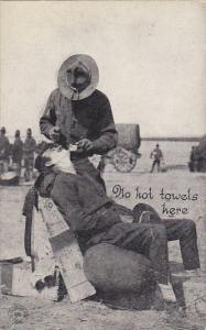 Military No Hot Towels Here Shaving In The Field France