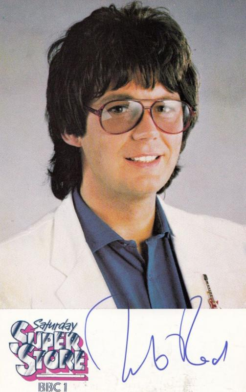 Mike Read Radio 1 DJ Saturday Superstore BBC Show Hand Signed Cast Card Photo