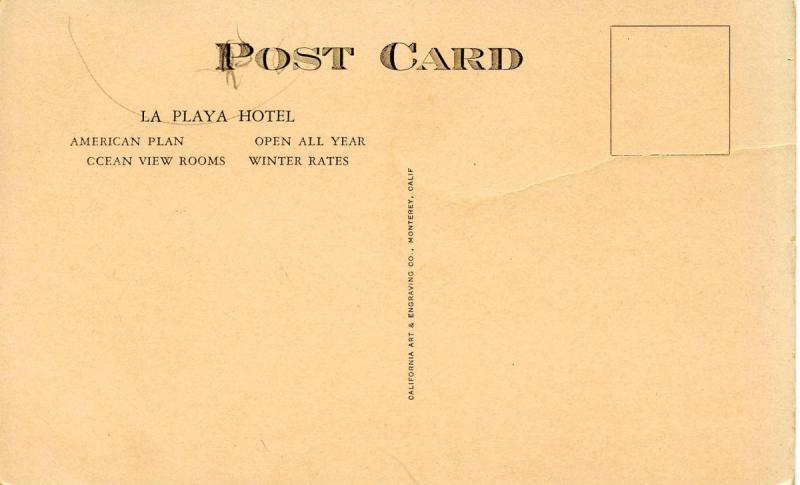 CA - Carmel-by-the-Sea. La Playa Hotel