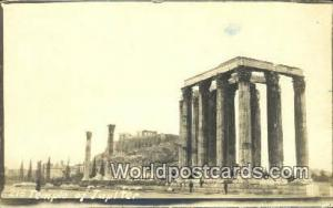Greece Temple to Jupiter Temple to Jupiter Real Photo